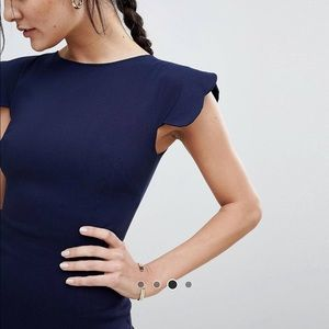 ASOS Dresses - BNWT ASOS Vesper pencil dress scalloped sleeve